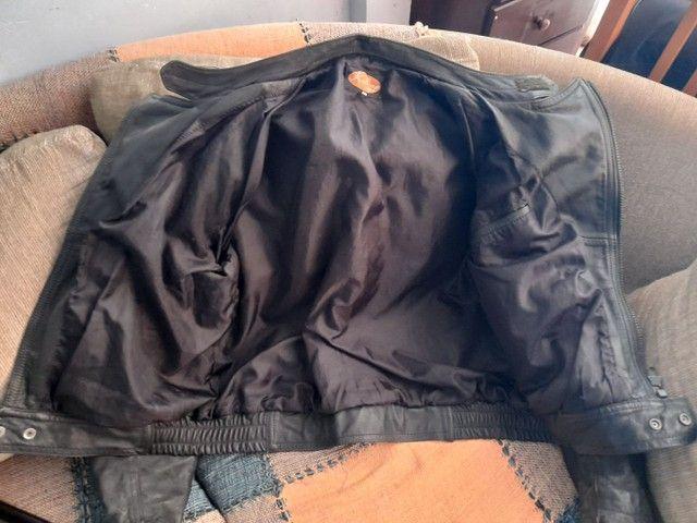 Jaqueta de moto couro puro Legitimo tamanho G Watzaper *