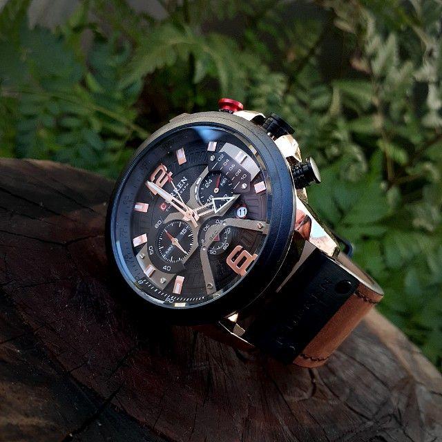 Relógio De Luxo À Prova D'água Curren Masculino - Foto 3