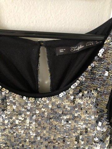 Vestido paetê Zara - TAM S (P) - Foto 4