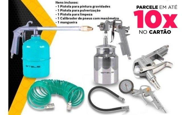 Kit Jogo De Acessórios para Compressor Pneumático 5 peças