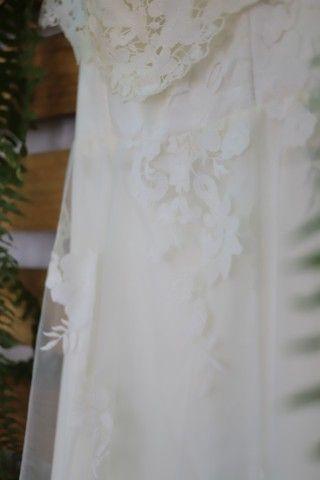 Vestido de noiva rendado + véu - Foto 2
