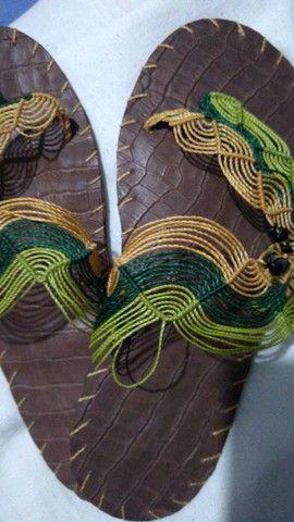 Sandálias artesanais de macramê - Foto 6