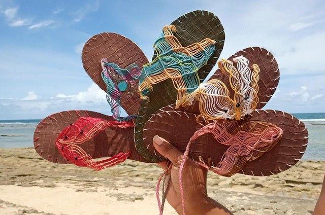 Sandálias artesanais de macramê - Foto 5