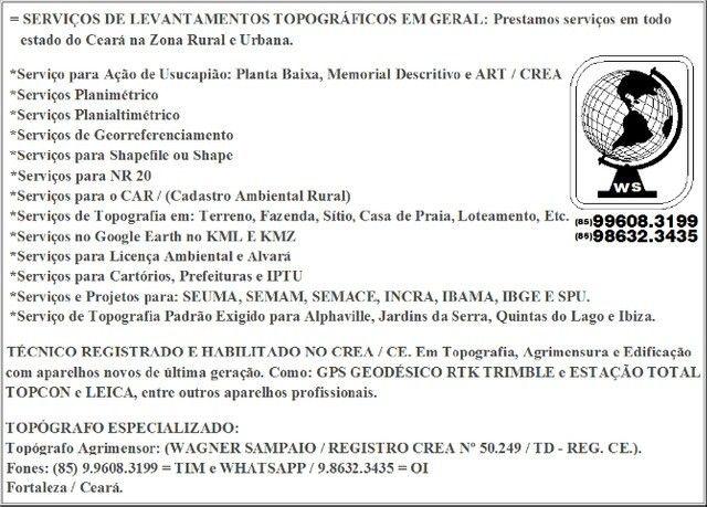 Topógrafo, com serviços completa para Ação de Usucapião, Topografia, Georreferenciamento - Foto 2