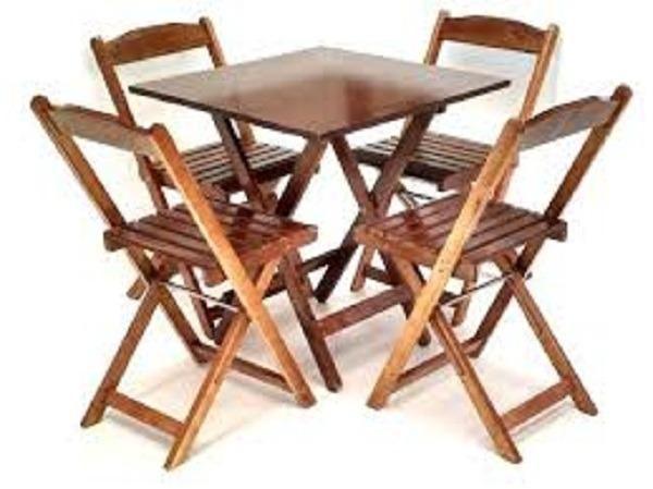 Linha dobrável mesas e cadeiras - Bares e Restaurantes - Foto 2