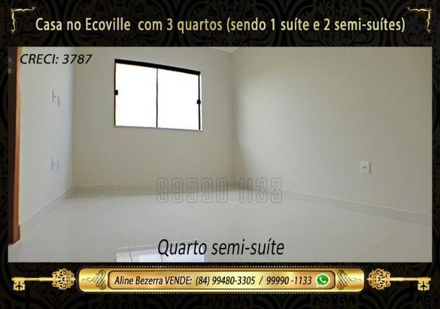 Casa no Ecoville, 3 quartos sendo 1 suíte com closet, lavabo, Etc - Foto 11