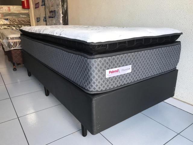 Cama Box Solteiro Palemax Titanium em Molas - Top de Linha! - Foto 4