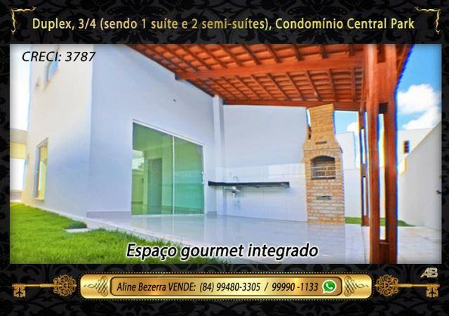 Duplex no Central Park com móveis projetados, 3 quartos, amplo espaço gourmet - Foto 16