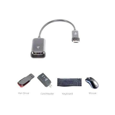 Cabo Adaptador Micro Usb Macho Usb Femea V8 Otg Smarthphone Celular Tablet - Foto 2