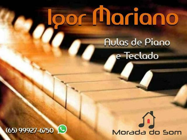 Aulas de teclado e piano popular