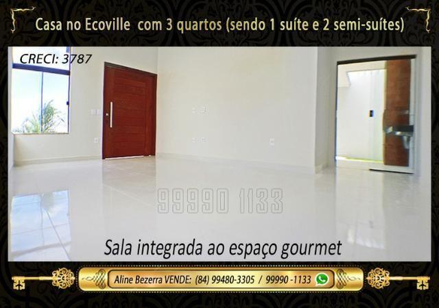 Casa no Ecoville, 3 quartos sendo 1 suíte com closet, lavabo, Etc - Foto 5