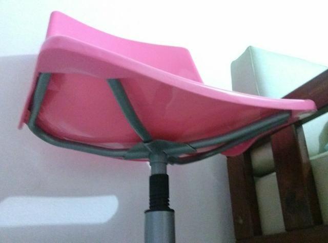 Cadeira de escritório rosa - Foto 3