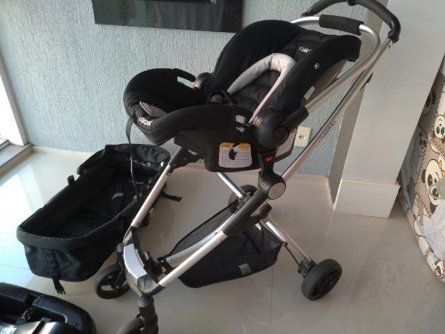 Carrinho De Bebê Kiddo Eclipse + Bebê Conforto E Base - Foto 4