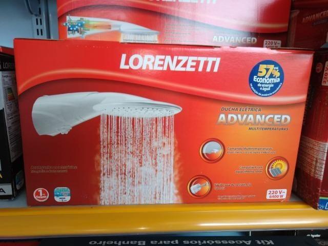 Black Friday - Chuveiro Ducha Elétrica Advanced - 220V/ 6400W - Branco - Lorenzetti - Foto 4