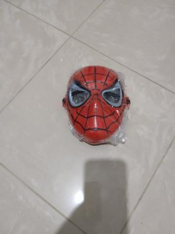 Fantasia infantil homen aranha com mascara de pvc - Foto 2
