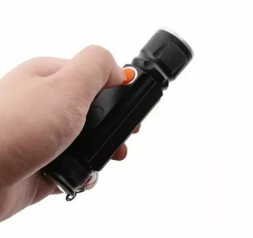Mini lanterna USB recarregável super potente - Foto 5