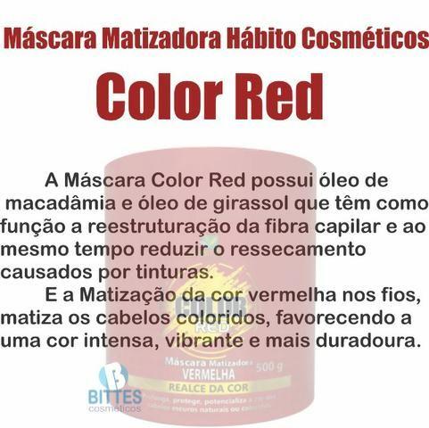 Red Hábito Cosméticos Máscara Color Matizador vermelho 500 g - Foto 3