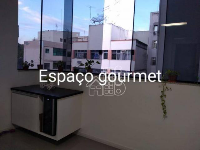 Apartamento com 3 dormitórios à venda, 100 m² por R$ 890.000,00 - Icaraí - Niterói/RJ - Foto 4