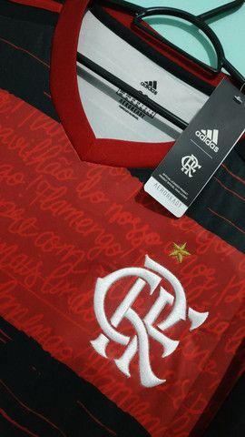 Camisa do Flamengo Rubro Negra Masculina 2020/21 - Foto 2