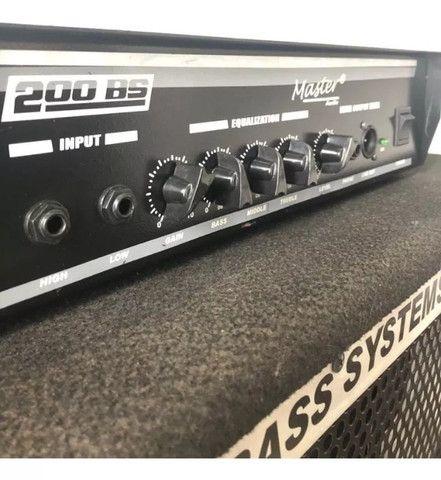 Kit Master Cabeçote Bs 200 + Gabinete Bs 410 Bass - Foto 2
