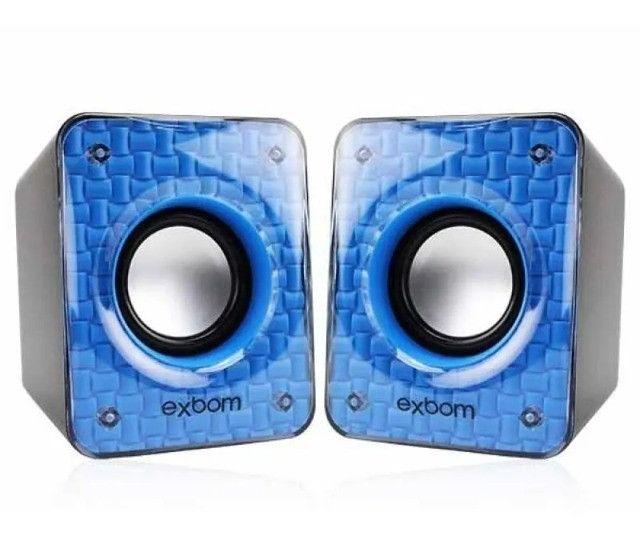 Caixa De Som Para Pc E Smartphone 6w C/bass USB - Loja Natan Abreu - Foto 4