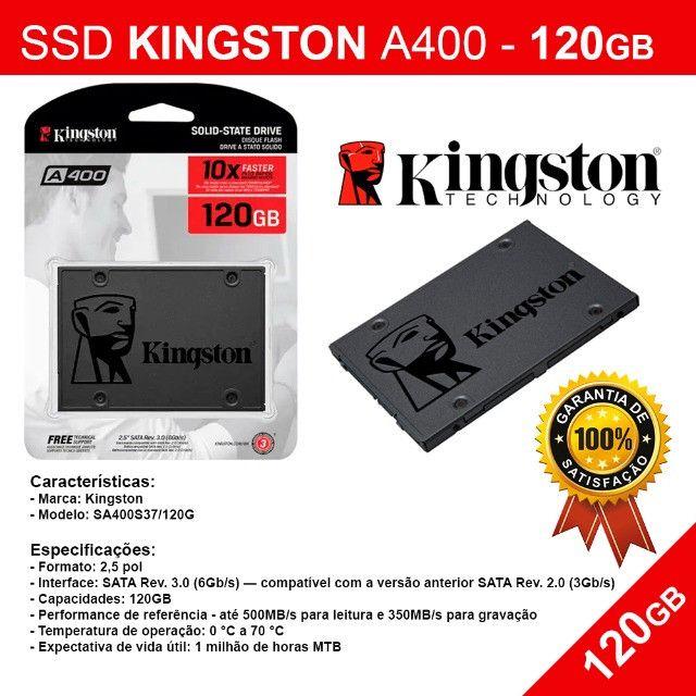 Hd Ssd Kingston A400 - 120gb - Novo Pronta Entrega
