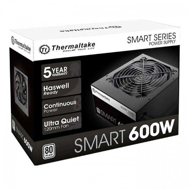 Fonte Thermaltake 600W 80 Plus White Smart Series,PFC Ativo,Nf e garantia , Loja Mega