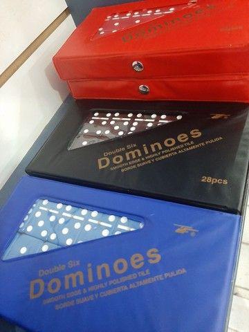 Domino do grande de osso  28 peças - Foto 2