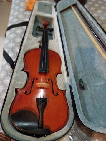 Violino em perfeito estado, último preço. Pra vender logo. - Foto 3