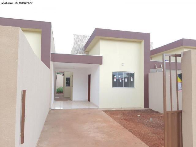 Casa para Venda em Várzea Grande, Jardim Eldorado, 2 dormitórios, 1 banheiro, 2 vagas - Foto 3