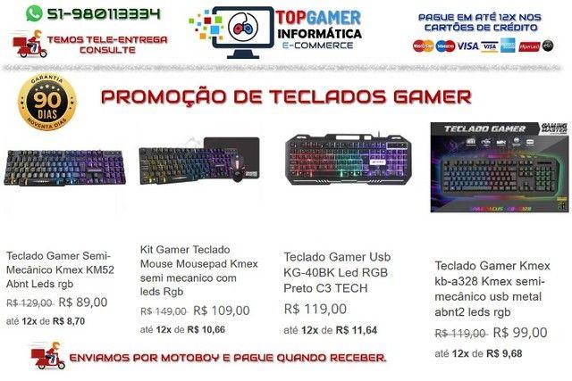 Headset Gamer Teclado Gamer Mouse Gamer Os melhores preços da região. Confira! - Foto 3