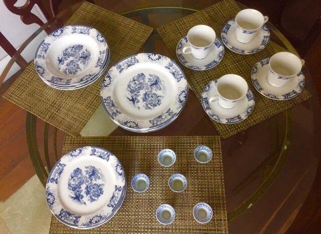 Conjunto porcelanas loucas para chá , jantar - Foto 2