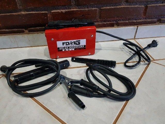 Máquina Inversora de Solda MMA 100A com Acessórios - Fortg produto novo - Foto 6