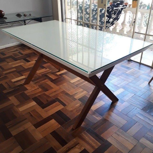 Mesa de jantar Mobly com tampo de vidro - Foto 2