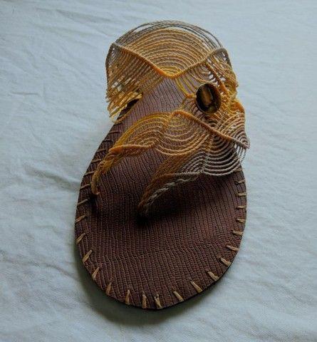 Sandálias artesanais de macramê - Foto 4