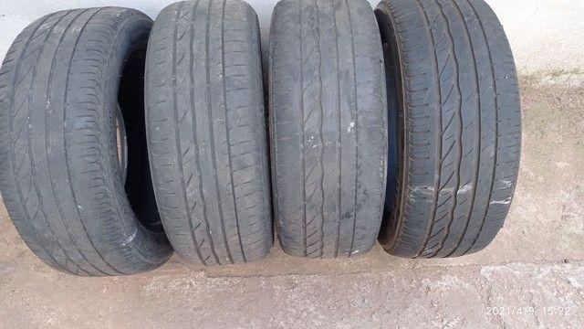 Vendo 4 pneus usados 205/55/r16 - Foto 6