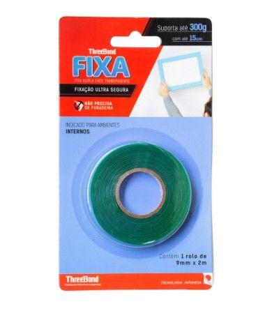 Fita Dupla Face Threebond Transparente Ultra Fixação 9Mmx2M