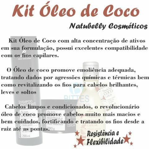 3 Kits Para Cabelos muitos Ressecados Rico em Antioxidantes e Ácidos Graxos Óleo de Coco N - Foto 2