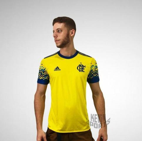 Abaixou ! Camisa Original Flamengo Adidas III 2017 2018 e89766516f8c2