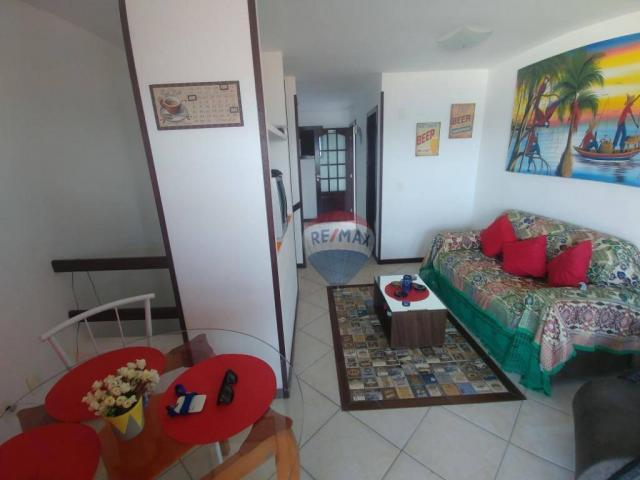 Flat estilo casa duplex com 2 dormitórios à venda, 57 m² por r$ 185.000 - ponta negra - na - Foto 5