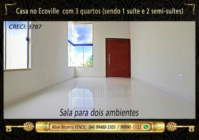 Casa no Ecoville, 3 quartos sendo 1 suíte com closet, lavabo, Etc - Foto 4