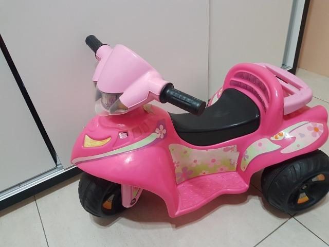 Motoca Elétrica Infantil Rosa
