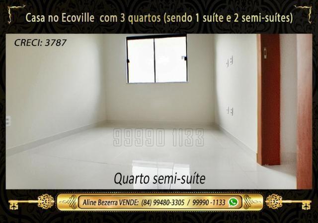 Casa no Ecoville, 3 quartos sendo 1 suíte com closet, lavabo, Etc - Foto 8