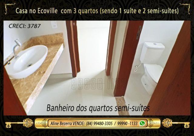 Casa no Ecoville, 3 quartos sendo 1 suíte com closet, lavabo, Etc - Foto 9