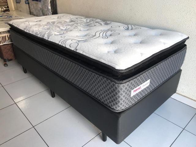 Cama Box Solteiro Palemax Titanium em Molas - Top de Linha! - Foto 5