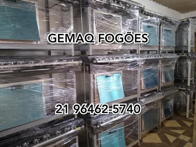 Gemaq Fogões! Fogão industrial 6 bocas com forno Super Black Friday!!!