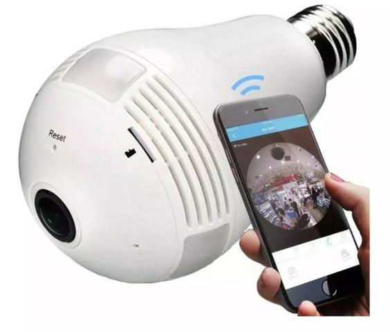 Câmera Segurança Lampada Espia Wifi - imagens pelo celular oferta