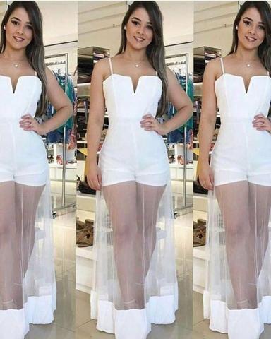 Macaquinho/vestido branco