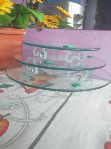 Vendo kit com 3 tábua para bolo - Foto 2