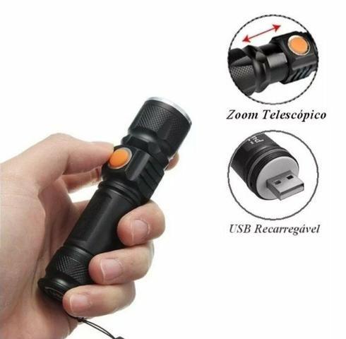 Mini lanterna USB recarregável super potente - Foto 4
